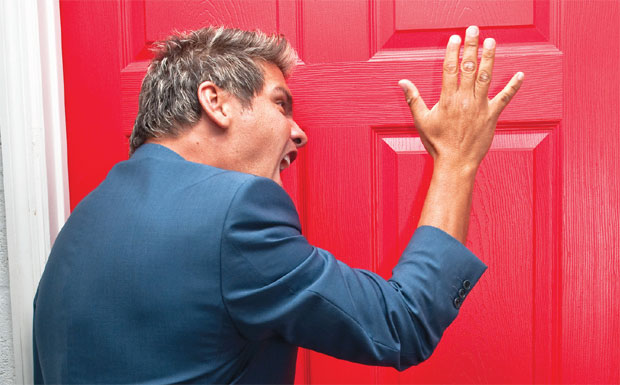 Angry letting agent image