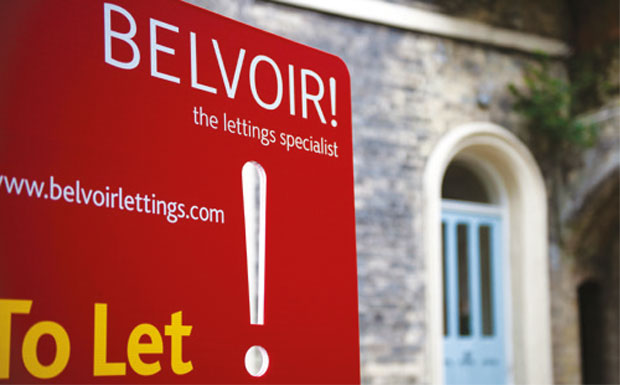 Belvoir To Let board image