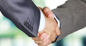 Business hand shake image