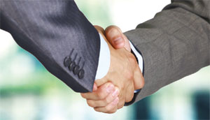 Business hand shake image