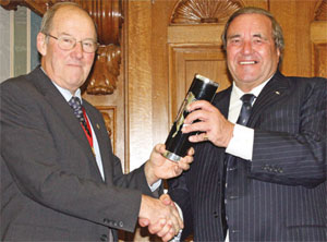 Clive Emson receiving Kent Invicta Award image