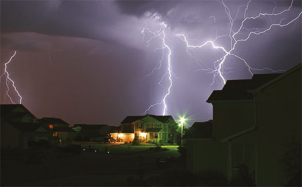 House in storm image
