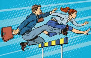 Jumping hurdles image