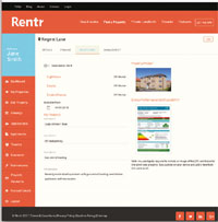 Rentr new web interface image