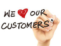 'We love our customers' image