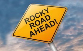 Rocky Road Ahead! sign image