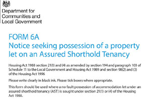 Section 21 notice image