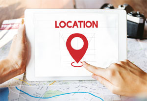 Searching location online image