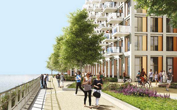 Royal Wharf Thames-side development image