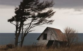 Wind blowing over house image