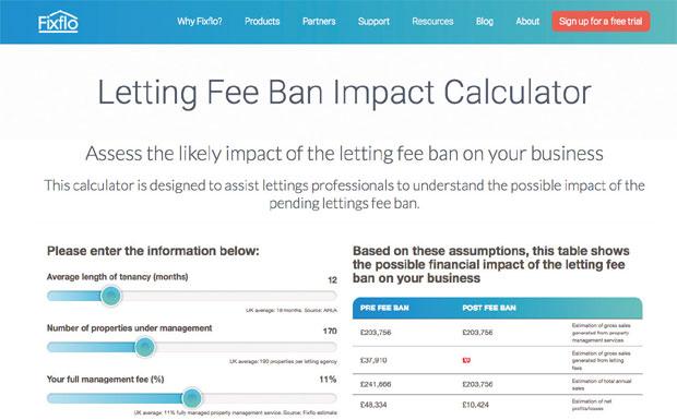 Letting Fee Ban Impact Calculator