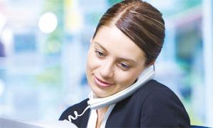 Agency staff on phone image