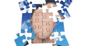 Broken puzzle face image