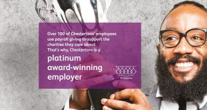 Chestertons winning Platinum Payroll Giving Quality Mark image