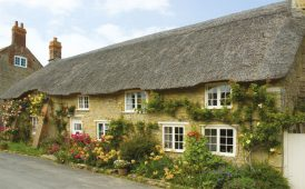 Thatched cottage image