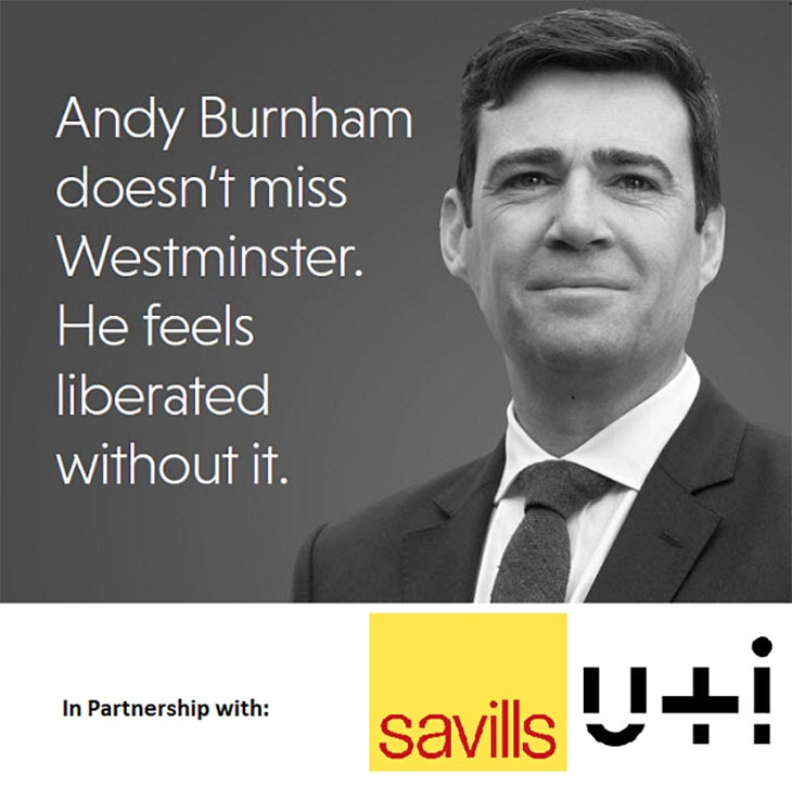 Savills Andy Burnham Peter Wilson Lecture 2018 image