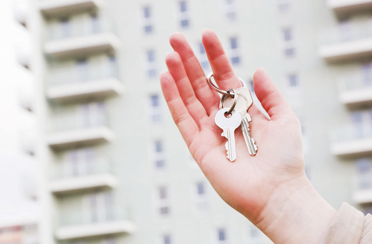 Handing over keys image