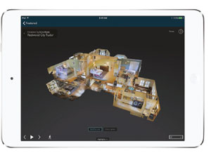 Matterport floor plan equipment image