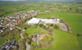Bishops Road, Claverham, aerial image