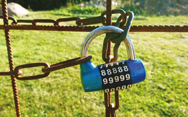 Padlocked fence image