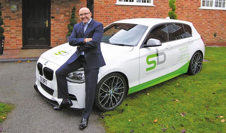 Simon Burt with BMW fleet car image