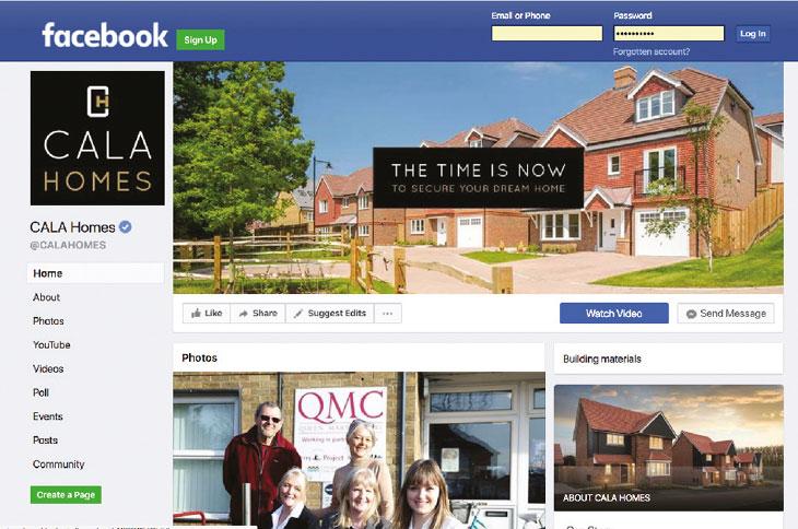Facebook screen image