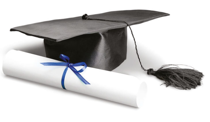 Graduate scroll & hat image
