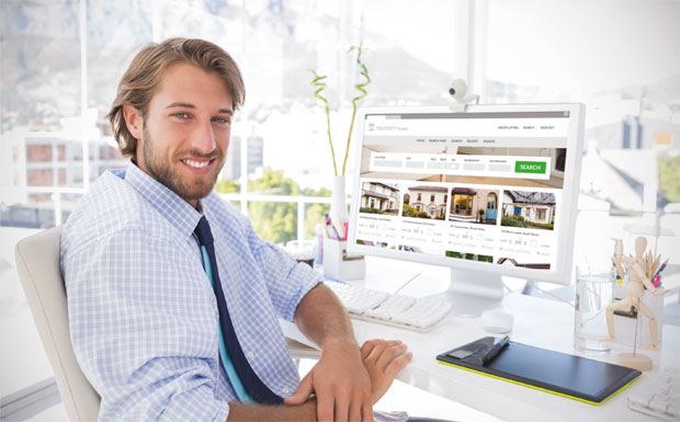 Agent at desk image