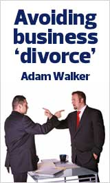 Resources How to avoid Business divorce Adam J Walker image
