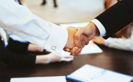 Business hand-shake image