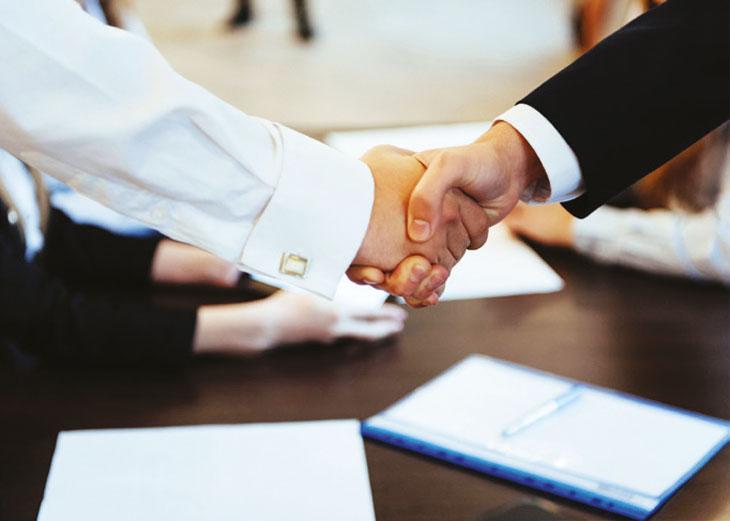 Business hand-shake image