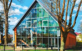 Glass house image