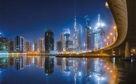 Dubai night image