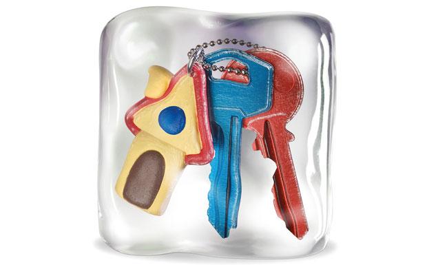 Keys locked in cube image