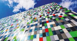 Colourful block of flats image