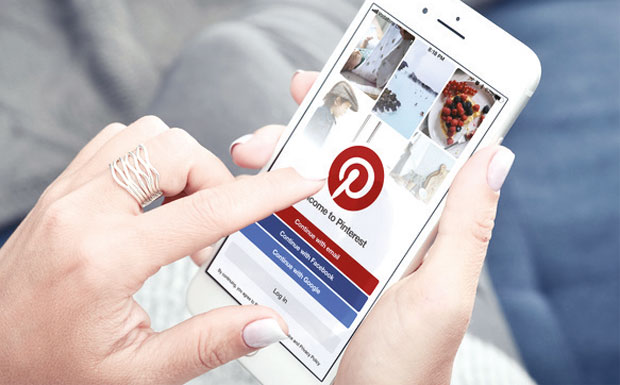 Pinterest on mobile device image