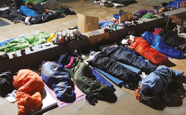 John D Wood & Co. sleeping rough for charity image