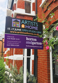 Artists Home signboard image