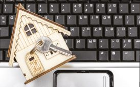 House on keyboard image