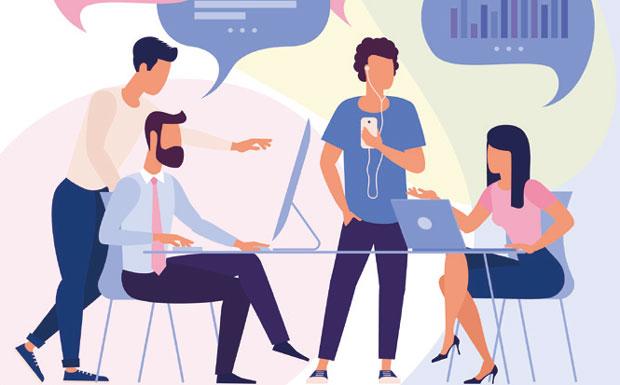 SEO/PR brainstorming meeting image