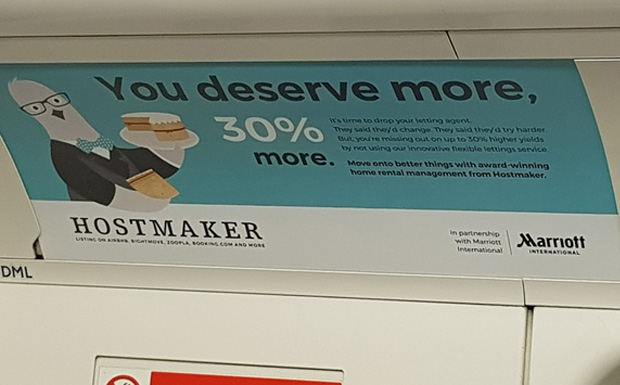 Airbnb management apologises for 'misguided tone' of Tube ads