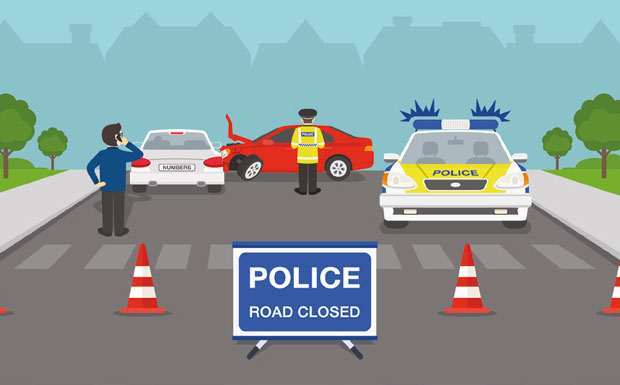 POLICE Road Closed image