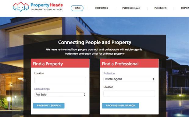 PropertyHeads website image