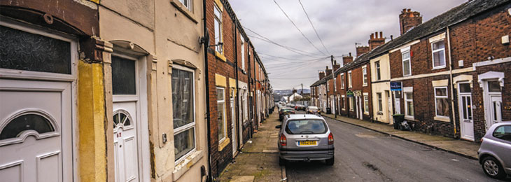 Street of rental properties image