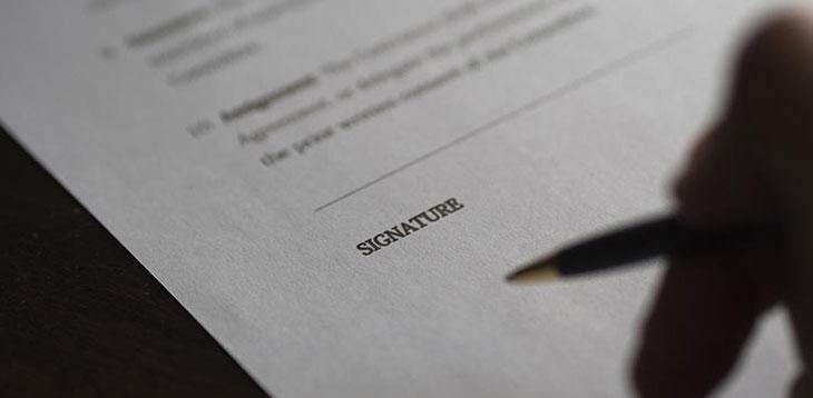 Signing document image