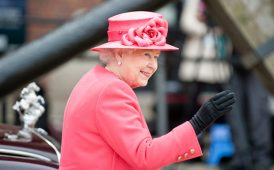 The Queen waving image