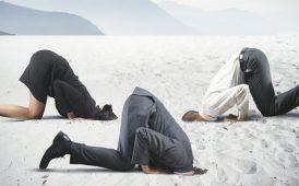 Burying head in sand image