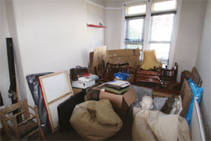 Cluttered room image