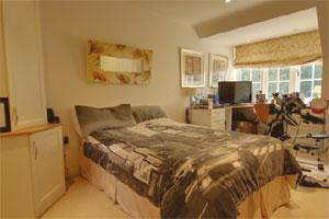 Cluttered bedroom image