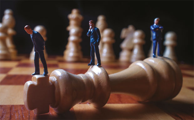 Agents on chess board image